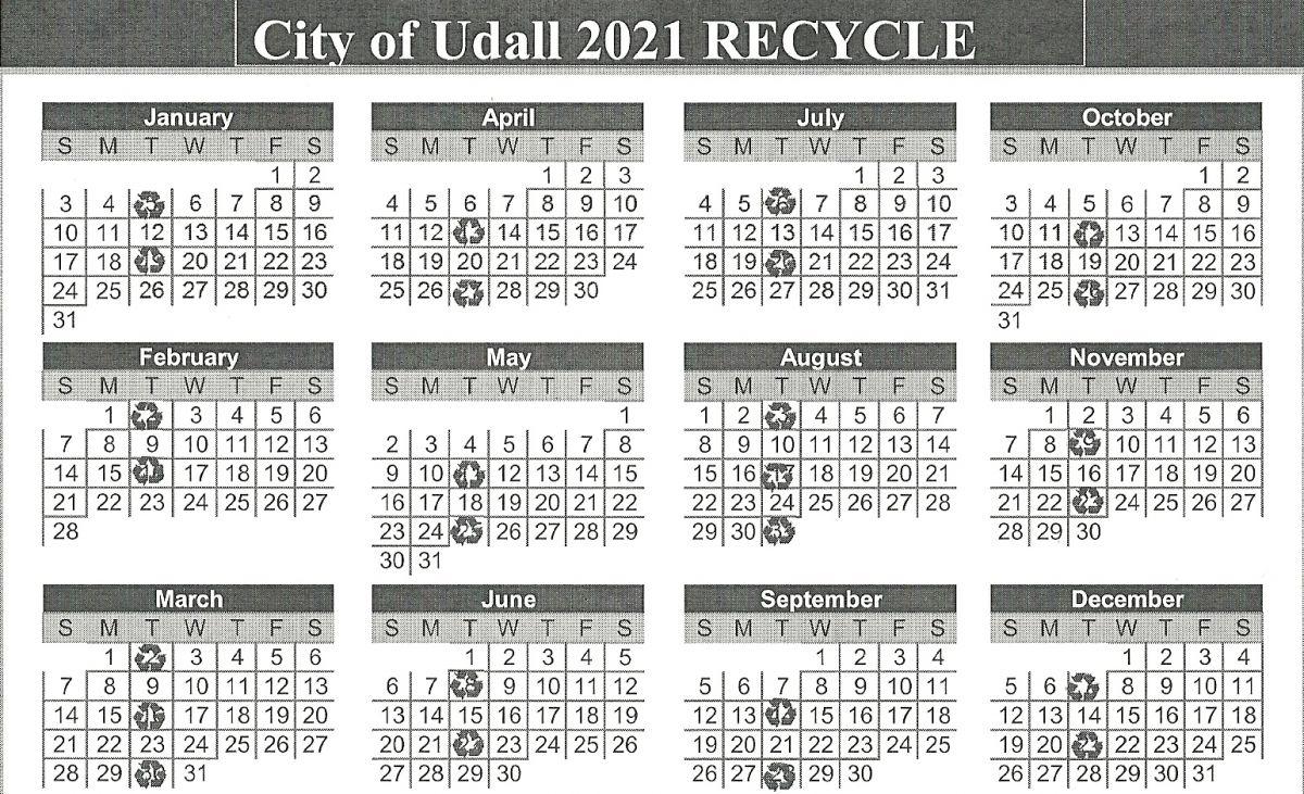 2021 recycle calendar