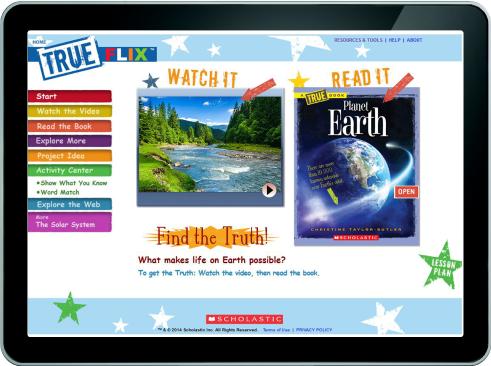 screenshot of planet Earth topic