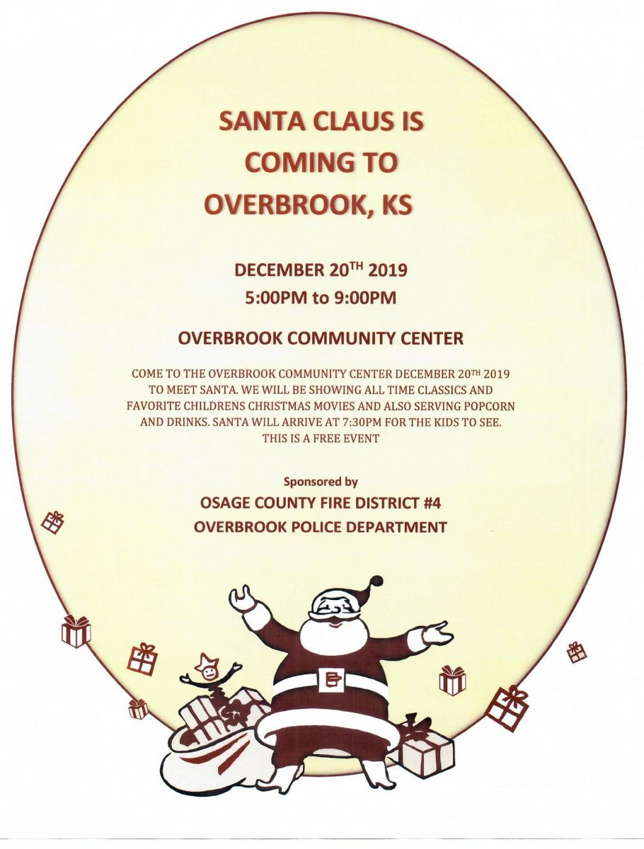 Santa Clause is Coming to Overbrook, KS