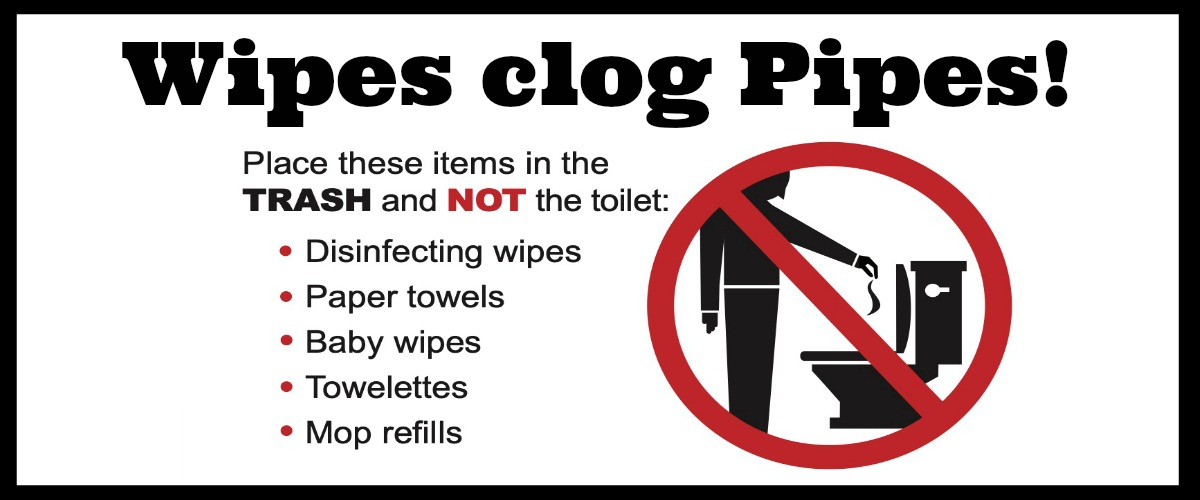 Wipes clog