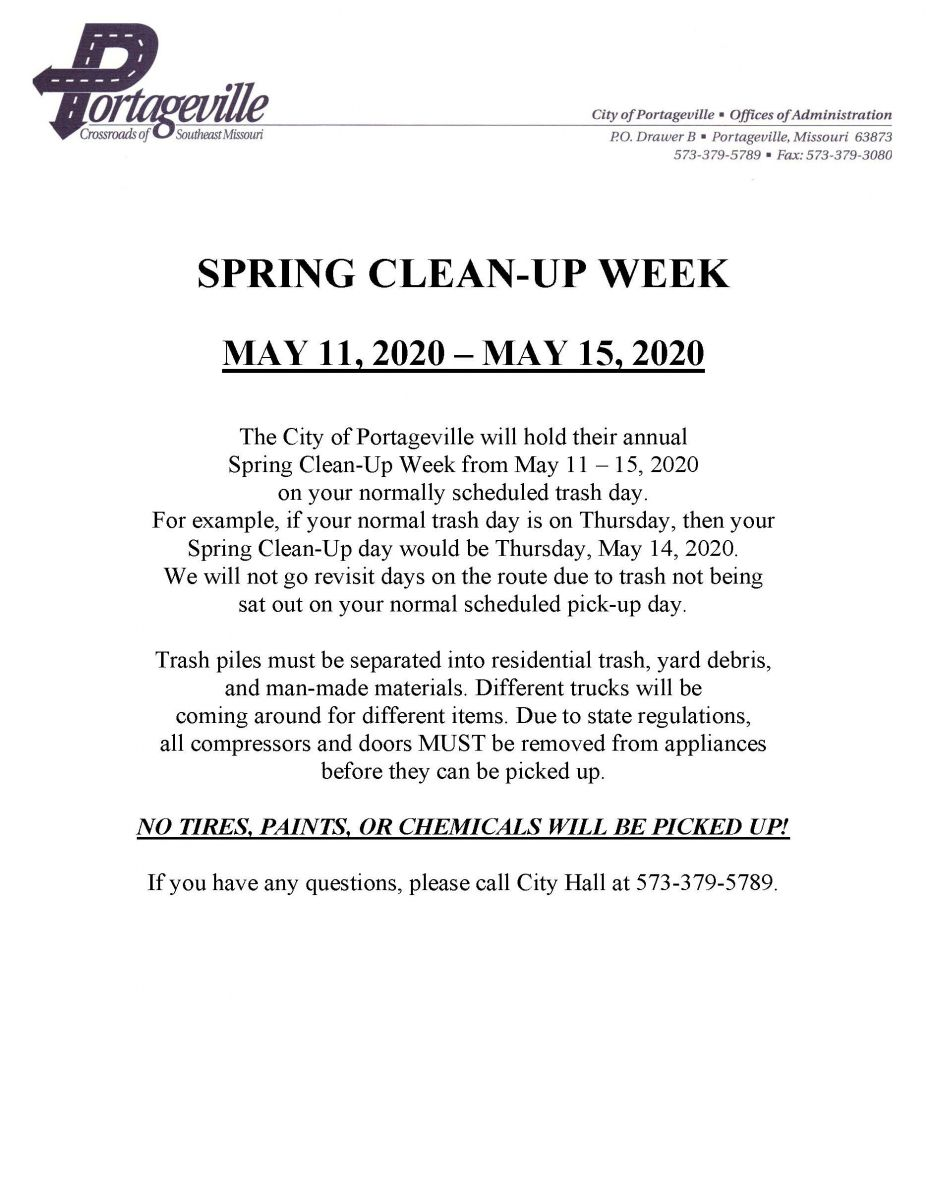 Spring Clean-Up Week
