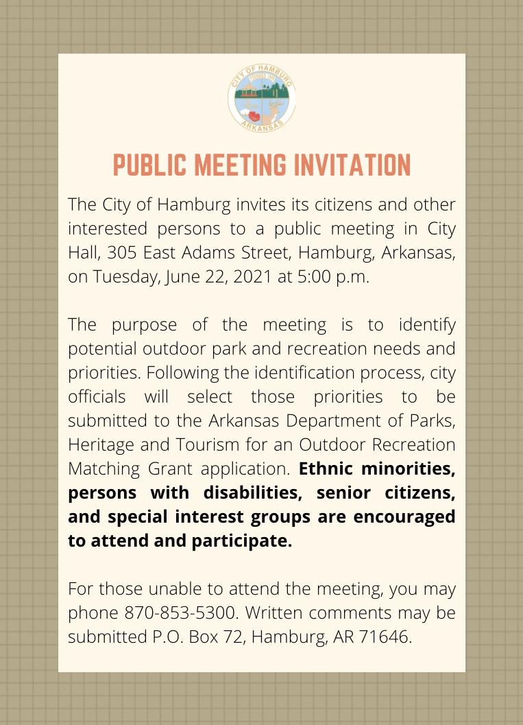Public Meeting Invitation