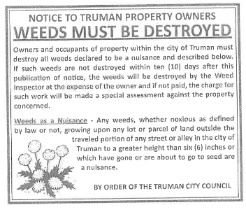 Weeds Must Be Destroyed
