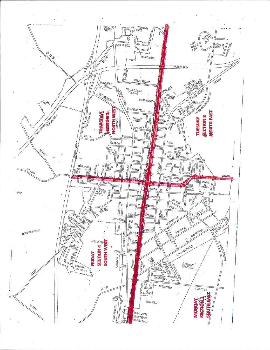 Trash Pick-Up Map